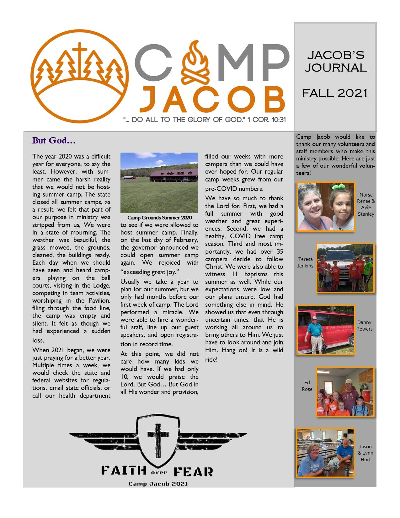 Jacob's Journal Template 2021